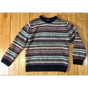 GAP Large 100% Wool Striped Long Sleeve Sweater
